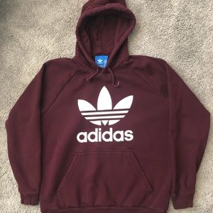 Adidas Plum Hoodie, Great Condition!! S - XL